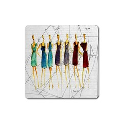 Fashion Sketch  Square Magnet by Valentinaart