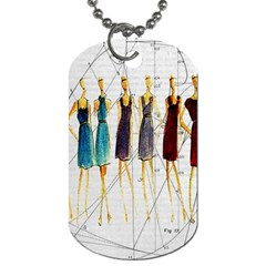 Fashion Sketch  Dog Tag (two Sides) by Valentinaart