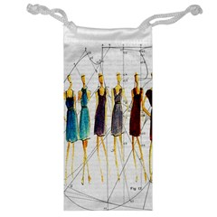 Fashion Sketch  Jewelry Bag by Valentinaart