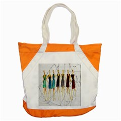 Fashion Sketch  Accent Tote Bag by Valentinaart