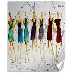 Fashion Sketch  Canvas 16  X 20   by Valentinaart