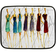 Fashion Sketch  Double Sided Fleece Blanket (mini)  by Valentinaart