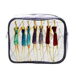 Fashion Sketch  Mini Toiletries Bags by Valentinaart
