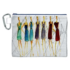Fashion Sketch  Canvas Cosmetic Bag (xxl) by Valentinaart