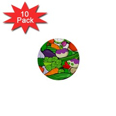 Vegetables  1  Mini Buttons (10 pack)