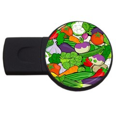 Vegetables  Usb Flash Drive Round (4 Gb) by Valentinaart