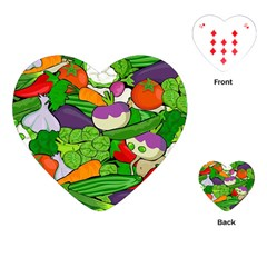 Vegetables  Playing Cards (heart)  by Valentinaart