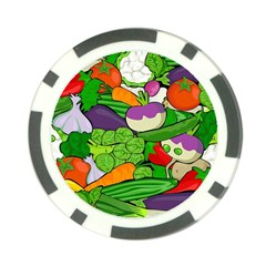 Vegetables  Poker Chip Card Guard by Valentinaart
