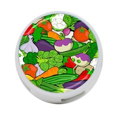 Vegetables  4 Port Usb Hub (two Sides)  by Valentinaart