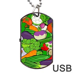 Vegetables  Dog Tag Usb Flash (two Sides) by Valentinaart