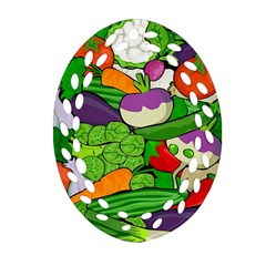 Vegetables  Oval Filigree Ornament (two Sides) by Valentinaart