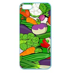 Vegetables  Apple Seamless Iphone 5 Case (color) by Valentinaart