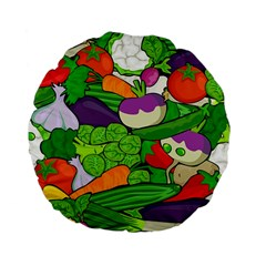 Vegetables  Standard 15  Premium Flano Round Cushions by Valentinaart