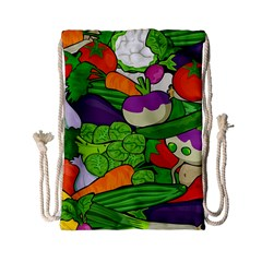 Vegetables  Drawstring Bag (small) by Valentinaart
