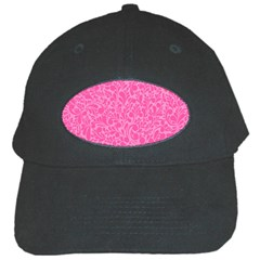 Pink Pattern Black Cap by Valentinaart
