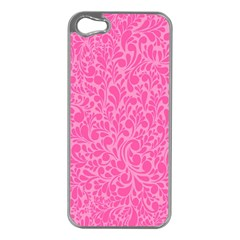 Pink Pattern Apple Iphone 5 Case (silver) by Valentinaart