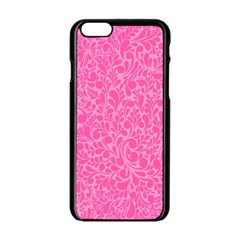 Pink Pattern Apple Iphone 6/6s Black Enamel Case by Valentinaart