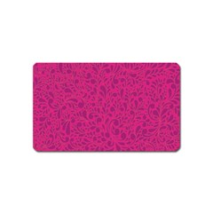 Pink Pattern Magnet (name Card) by Valentinaart