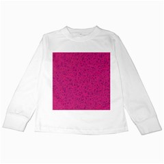 Pink Pattern Kids Long Sleeve T Shirts by Valentinaart