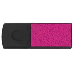 Pink Pattern Usb Flash Drive Rectangular (4 Gb) by Valentinaart