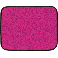 Pink Pattern Fleece Blanket (mini) by Valentinaart