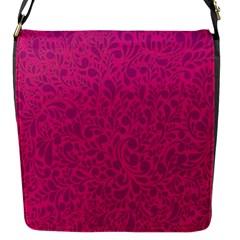 Pink Pattern Flap Messenger Bag (s) by Valentinaart