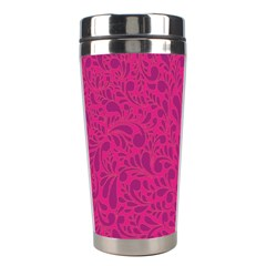 Pink Pattern Stainless Steel Travel Tumblers by Valentinaart