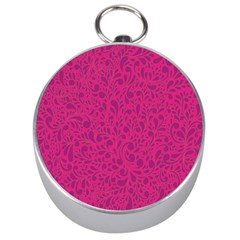 Pink Pattern Silver Compasses by Valentinaart