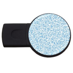 Blue Pattern Usb Flash Drive Round (4 Gb) by Valentinaart
