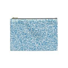 Blue Pattern Cosmetic Bag (medium)  by Valentinaart