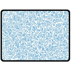 Blue Pattern Fleece Blanket (large)  by Valentinaart