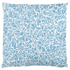 Blue Pattern Large Cushion Case (two Sides) by Valentinaart