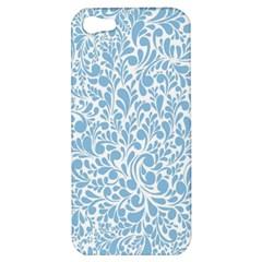 Blue Pattern Apple Iphone 5 Hardshell Case by Valentinaart