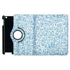 Blue Pattern Apple Ipad 2 Flip 360 Case by Valentinaart