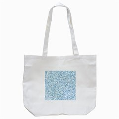 Blue Pattern Tote Bag (white) by Valentinaart
