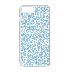 Blue Pattern Apple Iphone 7 Plus White Seamless Case by Valentinaart