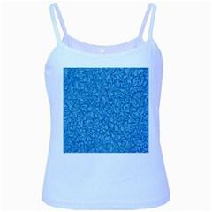 Blue Pattern Baby Blue Spaghetti Tank by Valentinaart