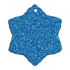Blue Pattern Ornament (snowflake) by Valentinaart