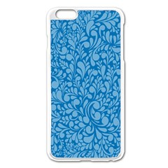 Blue Pattern Apple Iphone 6 Plus/6s Plus Enamel White Case by Valentinaart