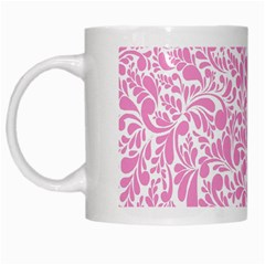 Pink Pattern White Mugs by Valentinaart