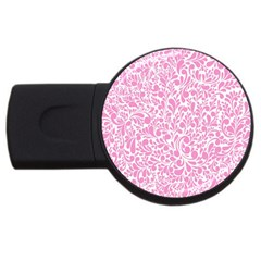 Pink Pattern Usb Flash Drive Round (2 Gb) by Valentinaart