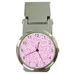 Pink Pattern Money Clip Watches by Valentinaart