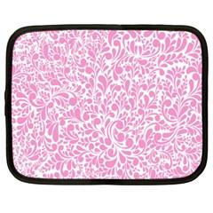 Pink Pattern Netbook Case (xxl)  by Valentinaart