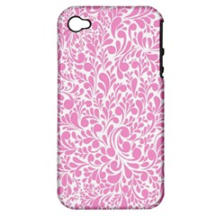 Pink Pattern Apple Iphone 4/4s Hardshell Case (pc+silicone) by Valentinaart
