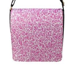 Pink Pattern Flap Messenger Bag (l)  by Valentinaart