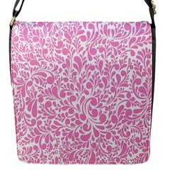 Pink Pattern Flap Messenger Bag (s) by Valentinaart