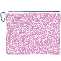 Pink Pattern Canvas Cosmetic Bag (xxxl) by Valentinaart