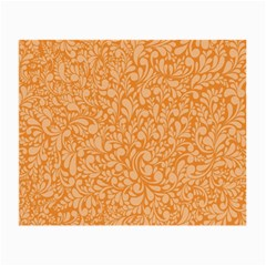 Orange Pattern Small Glasses Cloth by Valentinaart
