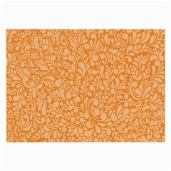 Orange Pattern Large Glasses Cloth by Valentinaart