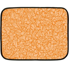 Orange Pattern Fleece Blanket (mini) by Valentinaart